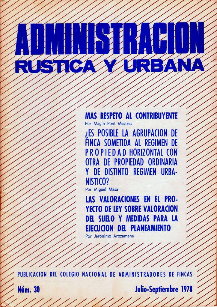 030 revista administraci n r stica y urbana elementos comunes - Colegio de administradores de fincas barcelona ...